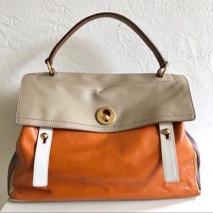 Yves Saint Laurent Sac Muse Two Colorblock Handbag